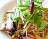 タコと水菜のペペロンチーノ
