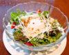 蒸し鶏と温泉玉子のサラダ